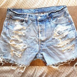 Vintage Levi distressed cutoffs jean shorts